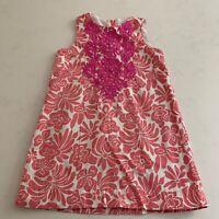 J. Crew Crewcuts Girls Size 4 Embroidered Summer Sleeveless Cotton Shift Dress