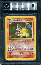 Charizard 4/130 BGS 9 Base Set II 2 Unlimited Holo Rare Pokemon 2000 psa cgc