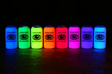 8x 250ml Ultra Bright UV Paint Fluorescent Ultraviolet Reactive Neon Glow Paints