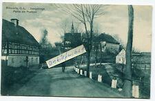Postkarte um 1927 :   Schwerta / Świecie bei Gmina Leśna , Straße am Postamt