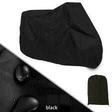Black Large L Motorcycle Bike Cover Waterproof UV Dust Protector 220* 95*110cm