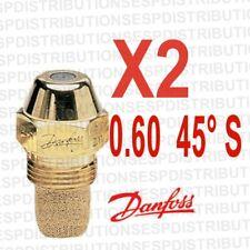 2 gicleur DANFOSS S débit 0.60  45 °S 030F4912 fioul oil burner nozzle