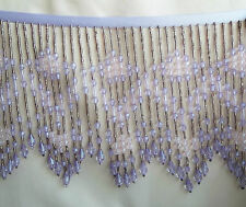 Lavender, light lavender, making  pale pink flowers in this beaded fringe  #248