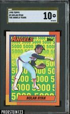 1990 Topps The Angels Years #3 Nolan Ryan Rangers HOF Gold SGC 10 PRISTINE