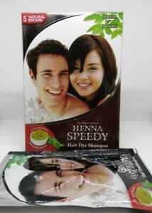Henna Speedy Hair Dye Shampoo Natural Brown 30ml FREE SHIPPING