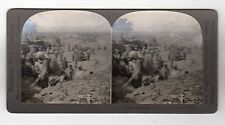 DIGGING AMONG THE RUINS, OLD CORINTH, GREECE: Stereoscopic photograph (C28660)