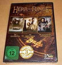 DVD Der Herr der Ringe - Die Spielfilm Trilogie - alle 3 Teile - Neu OVP