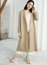 &Other stories Linen Blend Duster Coat Size 0