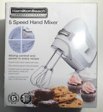 Hamilton Beach 62659E Professional 5 Speed Hand Mixer w/ Beater Whisk Dough E4