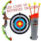 Bow & Arrow Toy Archery Set Kids Target Quiver Fun Game Batteries Included Gift