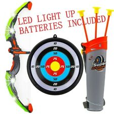 Toy Archery Set Kids Bow Arrow Target Quiver  Fun Game Batteries Included Gift