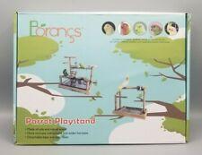 New listing Borangs Parrots Playstand Bird Playground Parrot Perch Gym Stand Playpen Bird.