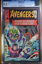 Avengers #27 CGC 9.0  Unrestored Marvel Attuma & Beetle OFF-WHITE to WHITE