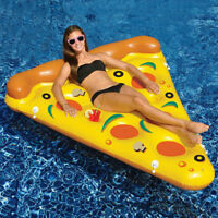 Giant Inflatable Pizza Swimming Pool Slice Float Raft Beach Lounge Bed Toy Chair