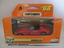 MATCHBOX MB66 DODGE VIPER RT/10 - RED. MIB/BOXED. 66 'SUPERFAST' SIZE