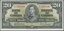 CANADA BC-25b PREFIX E/E $20 1937 GORDON/TOWERS CHOICE GEM UNC ORIG NOTE BR9404