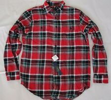 NWT $145 Polo Ralph Lauren Men's Matlock Long Sleeve Flannel Plaid Shirt S Red