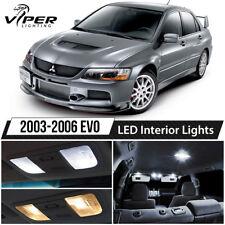 White LED Interior Lights Package Kit for 2003-2006 Mitsubishi Lancer Evo 8 9