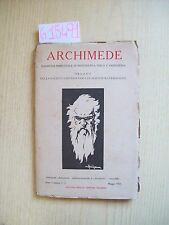 ARCHIMEDE - NUM. 1-2 - PRIULLA EDITORE - 1923
