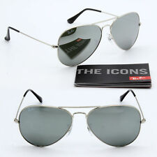9463be6e19 62mm ray-ban aviator new sunglasses for men and women silver mirror lens  RB3025