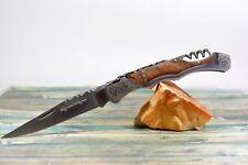 Couteau de poche Laguiole Baroque Zébré Acier 420 tir bouchon Neuf 4172 M