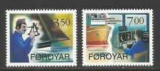 Faroe Is 1994 School of Navigation-Attractive Ship Topical (268-69) Mnh