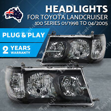 for Toyota Landcruiser 100 Series 1998-2005/04 Altezza BLACK HeadLights Pair OZ