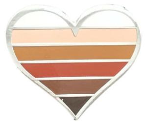 Black Lives Matter Ethnic Minorities Rights Heart Lapel Pin Badge