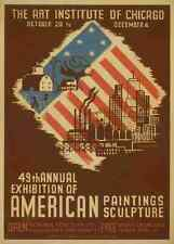 A4 Photo Waltrip Mildred WPA Poster c1937 49th annual exhibition of American pai