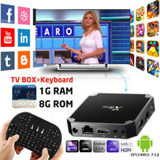 2017 X96Mini S905W Android 7.1.2 TV Box 1G 8G 4K Media Player + i8 USB Keyboard