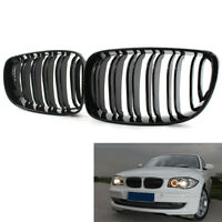 Gloss Black For BMW 07-12 E81 E82 E87 E88 118i 128i Front Kidney Grill Grilles