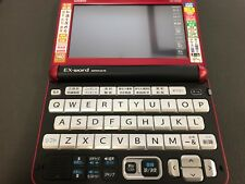 Casio Electronic Dictionary EX-Word XD-Y6500RD Red Learn Japanese Japan