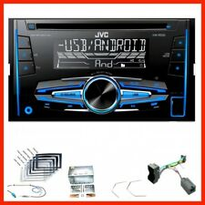 JVC kw-r520 USB Autoradio mp3 kit de montage pour Opel Astra H Corsa D Zafira B Antara