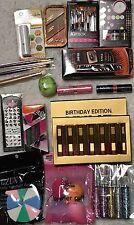 45 Piece Huge Makeup Lot Lipstick, Lip Gloss, Mascara Eye Brushes Puff Nail +