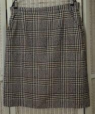 """AQUASCUTUM Pencil Skirt UK18 XL 36"""" Waist Multicolour Woven Wool-Silk Blend"""