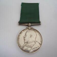 Volunteer Force Long Service Medal Ed VII 1st Cornwall Royal Garrison Artillery
