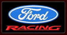 """FORD RACING EMBROIDERED PATCH ~5"""" x 2-3/8"""" FORMULA ONE RALLY CROSS V8 WRC DRAG"""