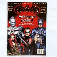 Topps Batman and Robin Movie Official Souvenir Magazine w/ Pull out Poster