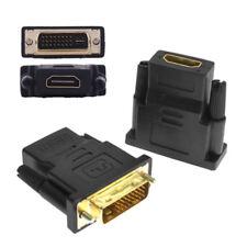 DVI-D 24+1 Pin Male to HDMI Female M-F Adapter HDTV LCD Monitor Converter Black