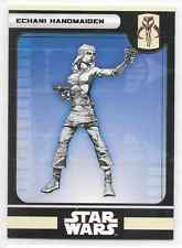 2008 Star Wars Miniatures Echani Handmaiden Stat Card Only Near Mint