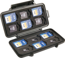 GENUINE Peli 0915 Memory Card Case Stores up to 12 SD, 6 Mini SD and 6 Micro SD