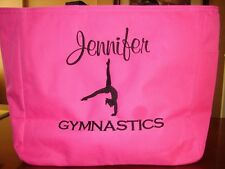 1 TOTE Bag teacher class ADORABLE GIRLY GYMNASTICS School DANCE PERSONALIZE GIFT