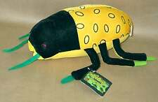 "12"" Bean Bug Plush by K and K Games BUG Yellow Green Black MINT wTags FREE SH"
