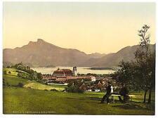 Mondsee & Schafberg Upper Austria A4 Photo Print