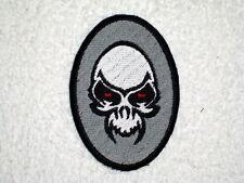 Oval Skull  Biker Vest Jacket Patch embroidered, motorcycle