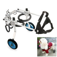 Stainless Steel Pet Wheelchair For Disabled Handicapped Hind Legs Cat Dog use