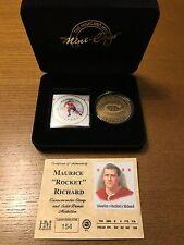 "Maurice ""Rocket"" Richard Highland Mint Stamp and Bronze Medallion Set SUPER RARE"