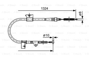 BOSCH Parking Brake Cable Fits FORD Maverick Suv NISSAN Terrano 1993- 1987477756