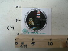 STICKER,DECAL SIGNAAL FOR SPACE NASA NIVR SRC USA,HOLLAND,UK SPACE A
