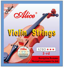 Alice A703 Violin D String for 4/4,3/4,1/2 Size Violins - 3rd D String